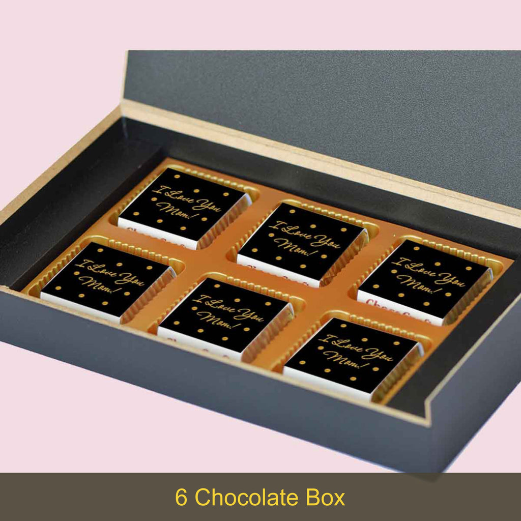 Black & Gold Personalised Gift for Mother's Day (with Wrapped Chocolates)