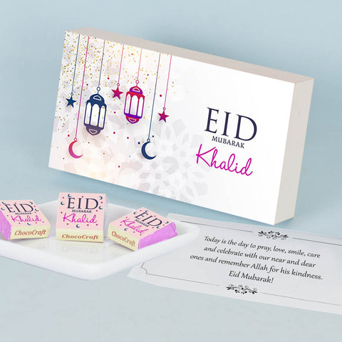 Personalised Gift for Eid with Wrapped Chocolates