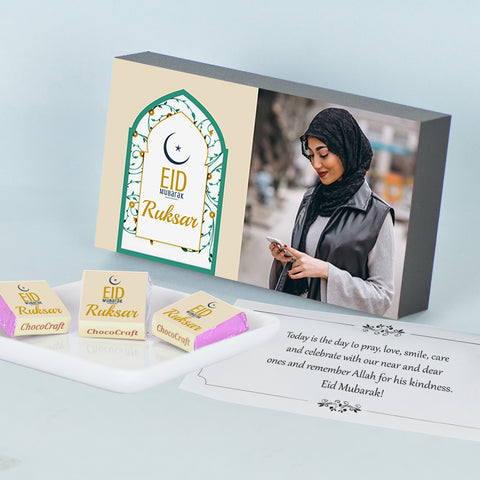 Personalised Gift Box for Eid with Wrapped Chocolates