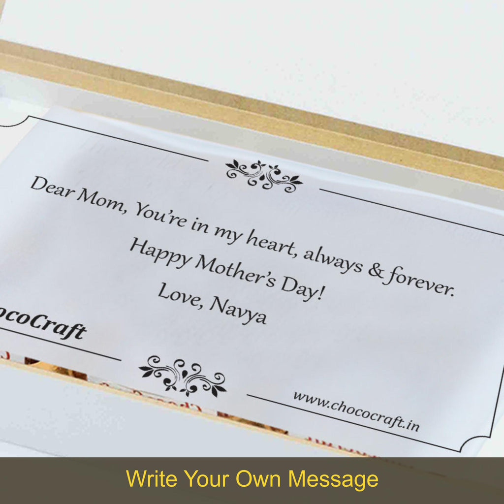 Personalised Gift for Mom on Mother's Day (with Wrapped Chocolates)