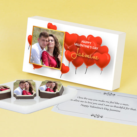 White Marble Design Get Well Soon Gift(with Wrapped Chocolates)