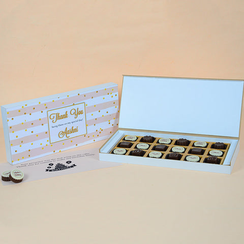 Birthday Return Gifts - 18 Chocolate Box - Alternate Printed Chocolates (Sample)