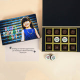 Birthday Return Gifts - 12 Chocolate Box - Middle Printed Chocolates (Sample)