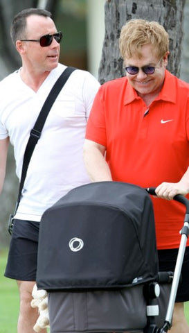 Sir Elton John and his husband loves Bugaboo too