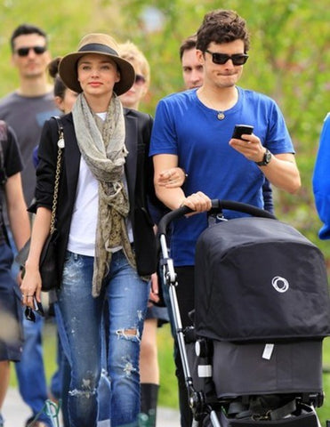 Supermodel Miranda Kerr and movie star Orlando Bloom also purchased a Bugaboo for their son, Flynn
