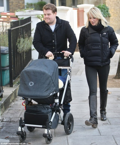 Funny James Corden and his wife also chose the dutch brand