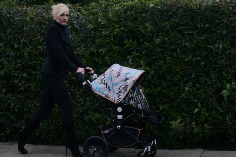 Gwen Stefani with a limited edition Bugaboo