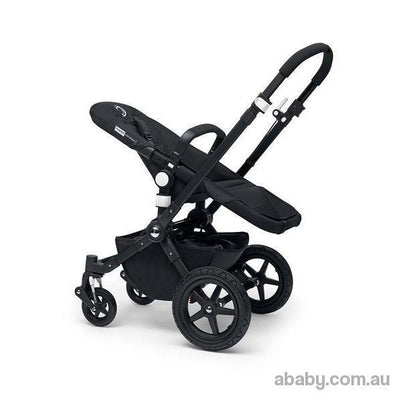 Bugaboo Cameleon3 - Black Frame Pram with Tailored Fabric Set ( canopy sun hood and Bassinet apron)