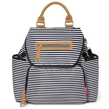 Skip*Hop Grand Central Diaper Backpack : Black Stripe