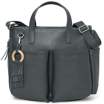 Skip*Hop Greenwich Simply Chic Tote: Smoke