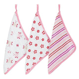 Ababy-ababy.com.au-Aden+Anais 3 Pack Muslin Washcloths - Princess Posie-Bath & Health-Aden+Anais-Ababy