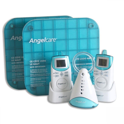 Ababy-ababy.com.au-Angelcare (AC401BP) Digital Sound & Movement Monitor, 2 Parent Rechargable Units-Home Safety-Angelcare Baby-Ababy