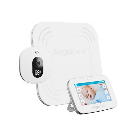Ababy-ababy.com.au-Angelcare (AC417) Digital Touchscreen Video Movement & Sound Monitor with Wire Free Pad-Home Safety-Angelcare Baby-Ababy