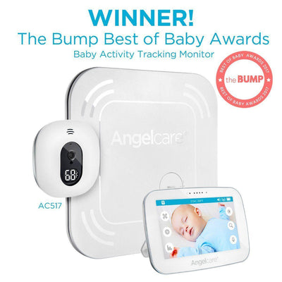 Ababy-ababy.com.au-Angelcare (AC517) Digital Touchscreen Video Movement & Sound Monitor with Wire Free Pad-Home Safety-Angelcare Baby-Ababy