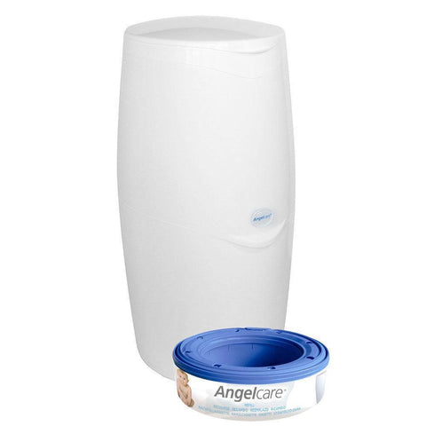 Ababy-ababy.com.au-Angelcare Nappy Disposal System, Includes 1 Bin & 1 Refill Cassette-Bath & Health-Angelcare Baby-Ababy