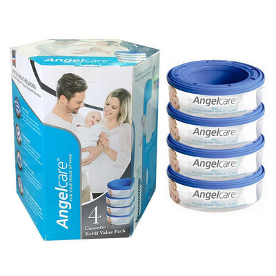 Ababy-ababy.com.au-Angelcare Nappy Disposal System Refill Cassettes 4 Pack-Bath & Health-Angelcare Baby-Ababy