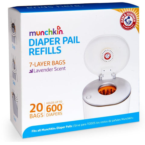 Ababy-ababy.com.au-Arm & Hammer Diaper Pail Refill Bags - 20 pack-Bath & Health-Munchkin-Ababy