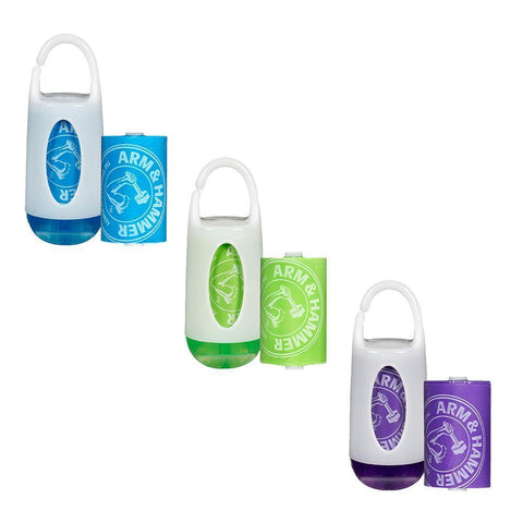 Ababy-ababy.com.au-Arm & Hammer Nappy Bag Dispenser and 24 Bag Refill Pack - Green-Bath & Health-Munchkin-Ababy