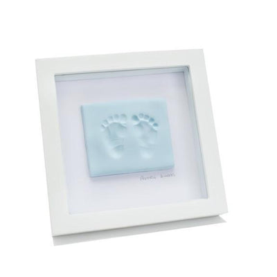 Ababy-ababy.com.au-Baby Ink Double Frame With Clay Impression Kit-Gifts-Baby Ink-Blue-Ababy