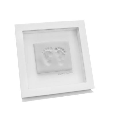 Ababy-ababy.com.au-Baby Ink Double Frame With Clay Impression Kit-Gifts-Baby Ink-Grey-Ababy