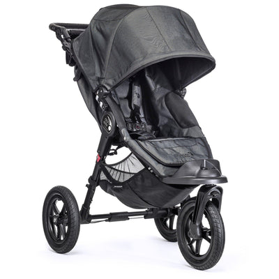 Ababy-ababy.com.au-Baby Jogger City Elite Pram Stroller-Prams & Strollers-Baby Jogger-Charcoal-Ababy