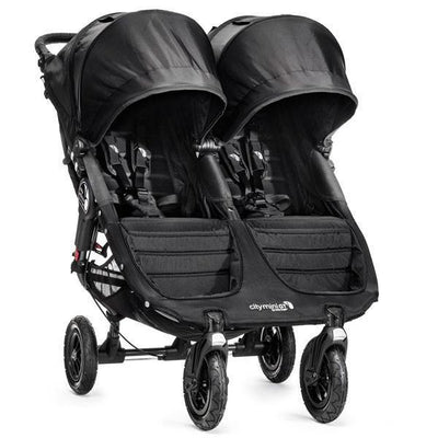 Ababy-ababy.com.au-Baby Jogger City Mini Gt Double Twin Stroller-Prams & Strollers-Baby Jogger-Black/Black-Ababy