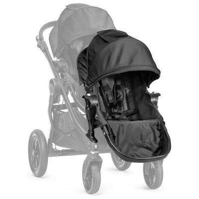 Ababy-ababy.com.au-Baby Jogger City Select Second Seat ( for City Select Pram Stroller )-Prams & Strollers-Baby Jogger-Black-Ababy