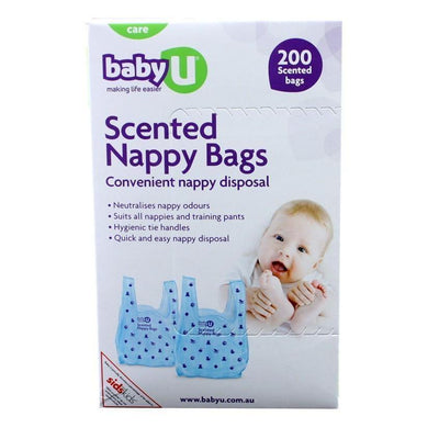 Ababy-ababy.com.au-Baby U Scented Nappy Bags - 200 Pack-Bath & Health-Baby U-Ababy