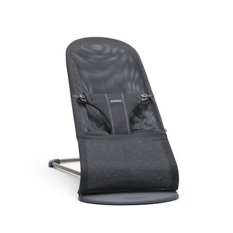 Ababy-ababy.com.au-BabyBjorn Bouncer Bliss-Playtime-BabyBjorn-Anthracite Mesh Black/Black-Ababy
