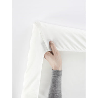Ababy-ababy.com.au-BabyBjorn Fitted Sheet for Travel Cot Light-Nursery-BabyBjorn-Natural White Organic-Ababy