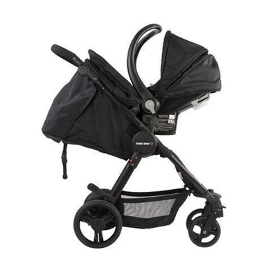 Ababy-ababy.com.au-Babylove Ezyfold Travel System Stroller - Black/Tan-Prams & Strollers-Babylove-Ababy