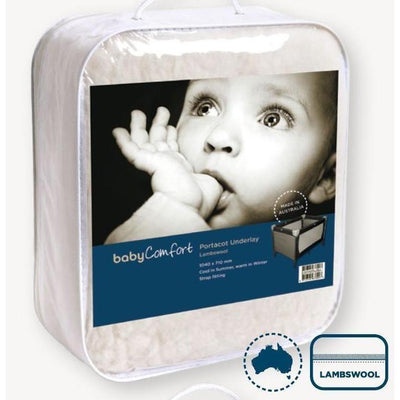 Ababy-ababy.com.au-BabyRest Lambswool Cot Underlay-Nursery-Baby Rest-Ababy