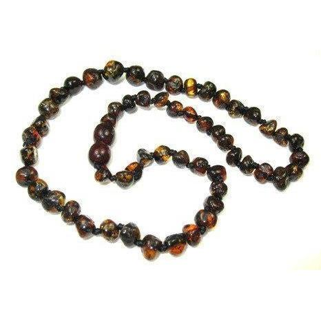Ababy-ababy.com.au-Baltic Amber Child Necklace 38cm - Black-Playtime-Wee Rascals-Ababy