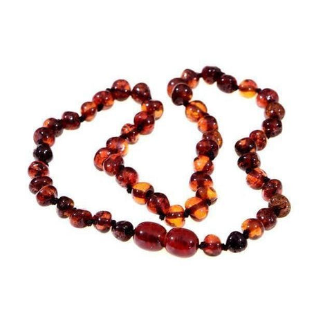 Ababy-ababy.com.au-Baltic Amber Child Necklace 38cm - Cherry-Playtime-Wee Rascals-Ababy