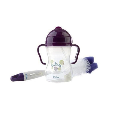 Ababy-ababy.com.au-B.Box 2-in-1 Bottle and Teat Cleaner - Plum Punch-Feeding-B.Box-Ababy