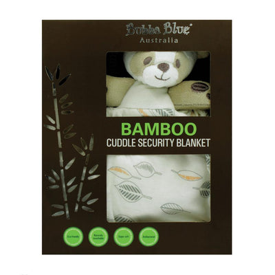 Ababy-ababy.com.au-Bubba Blue Bamboo Cuddle Security Blanket (Bear) - Leaf-Playtime-Bubba Blue-Ababy