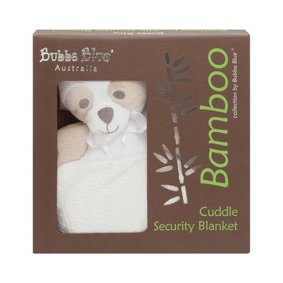 Ababy-ababy.com.au-Bubba Blue Bamboo Cuddle Security Blanket (Bear) - White-Playtime-Bubba Blue-Ababy
