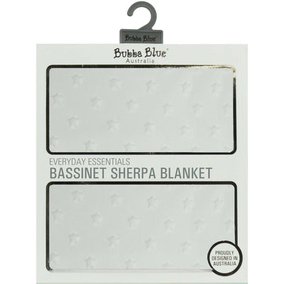 Ababy-ababy.com.au-Bubba Blue Everyday Essentials Sherpa Bassinet Blanket - Love Heart White-Nursery-Bubba Blue-Ababy