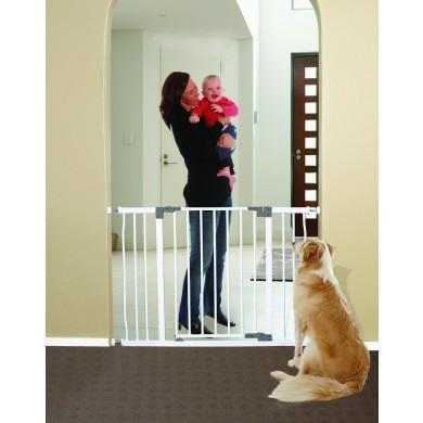 Ababy-ababy.com.au-CHELSEA XTRA HALLWAY SWING CLOSED SECURITY GATE - WHITE-Home Safety-Dreambaby-Ababy