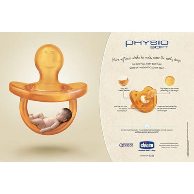 Ababy-ababy.com.au-Chicco Physio Soft Soother Pacifier Latex 6-12m-Feeding-Chicco-Ababy