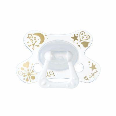 Ababy-ababy.com.au-Difrax Soother 6-12 Months Dental - Girl-Feeding-Difrax-Ababy