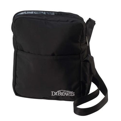 Ababy-ababy.com.au-Dr Browns Insulated Baby Bottle Tote and Gell Pack Carry Bag Black-Feeding-Dr Browns-Ababy