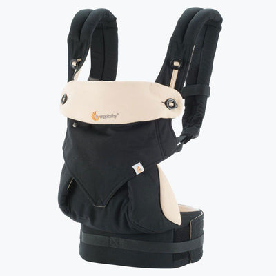 Ababy-ababy.com.au-Ergobaby Four Position 360 Baby Carrier - Black/Camel-Out & About-Ergobaby-3.2-15kg-Ababy