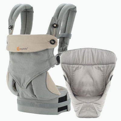 Ababy-ababy.com.au-Ergobaby Four Position Bundle of Joy 360 Baby Carrier - Grey-Out & About-Ergobaby-Ababy