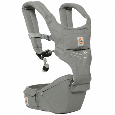 Ababy-ababy.com.au-Ergobaby Hip Seat Baby Carrier with Removable Panel - Galaxy Grey-Out & About-Ergobaby-Ababy