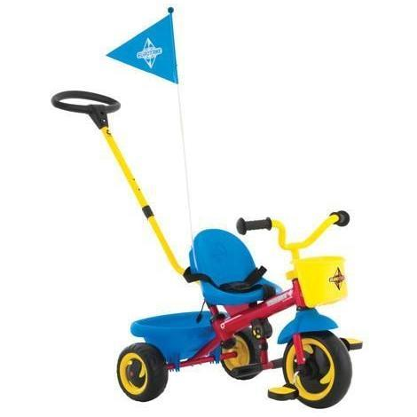 Ababy-ababy.com.au-Eurotrike Playsafe Plus Trike - Fire engine red with yellow and blue accents-Playtime-Eurotrike-Ababy