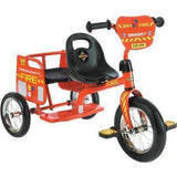 Ababy-ababy.com.au-Eurotrike Tandem Fire Trike - Fire engine red with Yellow and black accents-Playtime-Eurotrike-Ababy