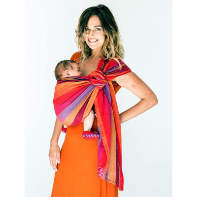 Ababy-ababy.com.au-Hugabub The Ring Sling - Organic Cotton Mesh Carrier-Out & About-Hugabub-Mesh Uluru Sunset-Ababy