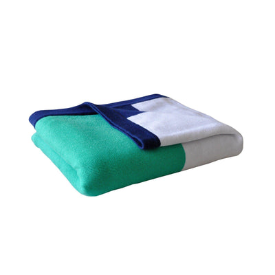 Ababy-ababy.com.au-Little Turtle Baby Blanket - Green/White/Navy Stripe-Nursery-Little Turtle-Ababy