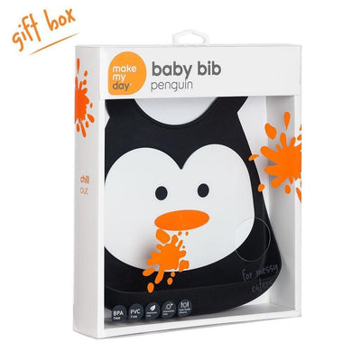 Ababy-ababy.com.au-Make My Day Baby Bib - Penguin-Feeding-Make My Day-Ababy